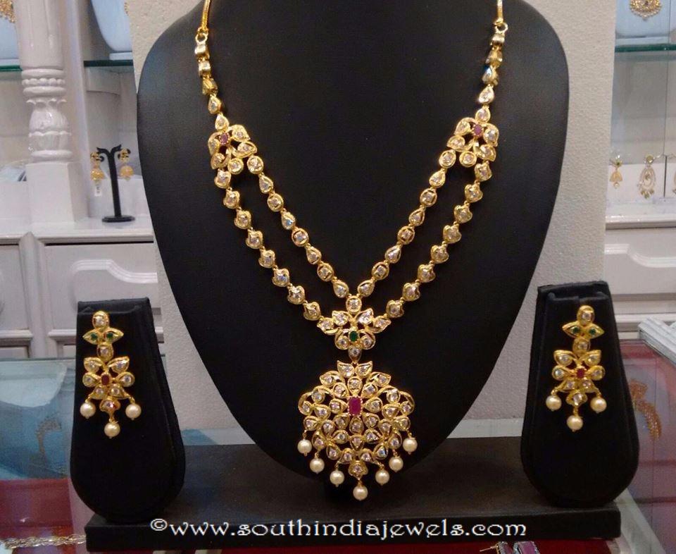One Gram Gold CZ Stone Necklace Set