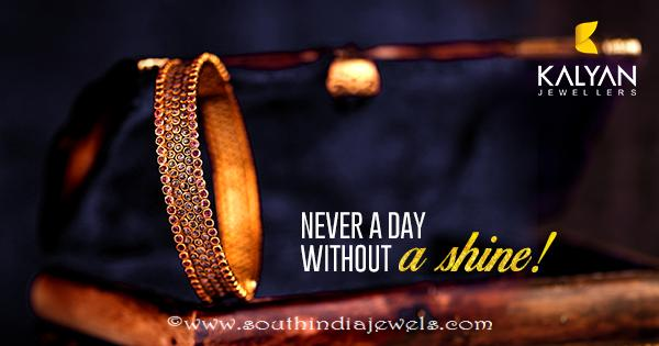 Gold Ruby Bangle Model From Kalyan Jewellers