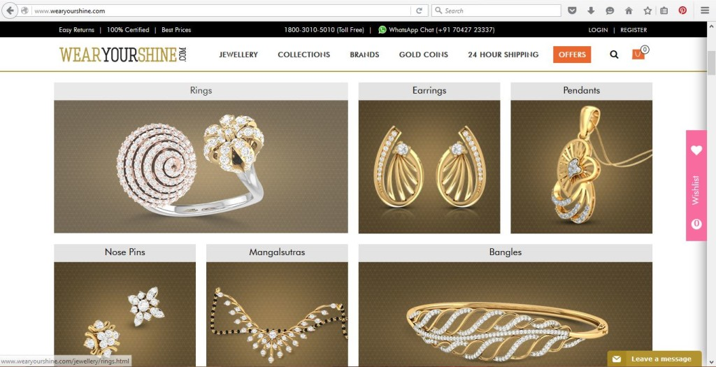 Online Jewellery store in India Wear Your Shine