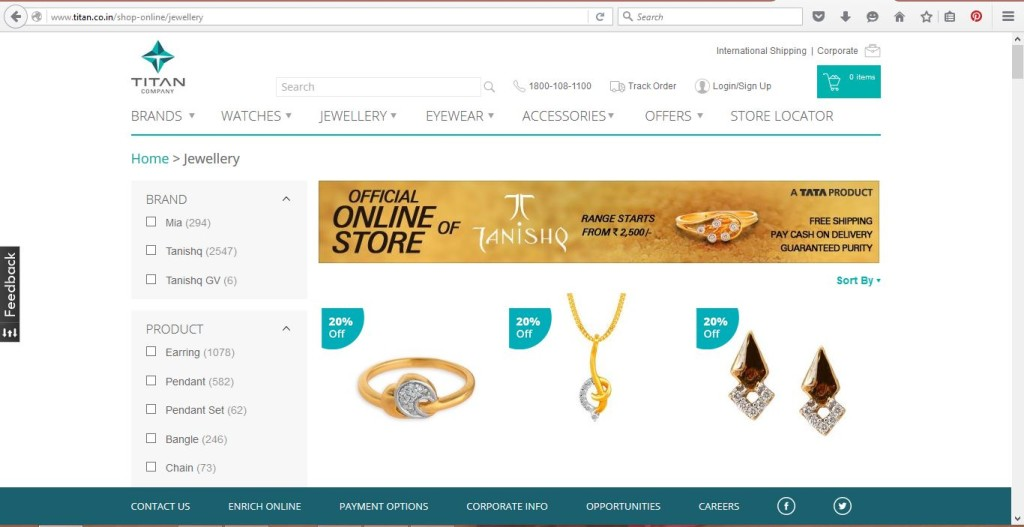 Online Gold Jewellery Shop India Tanishq
