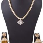 Imitation White Stone Short Necklace