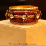 Huge Gold Antique Bangle from Manubhai Jewellers