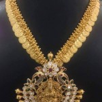 Gold Clustered Bead Coin Necklace