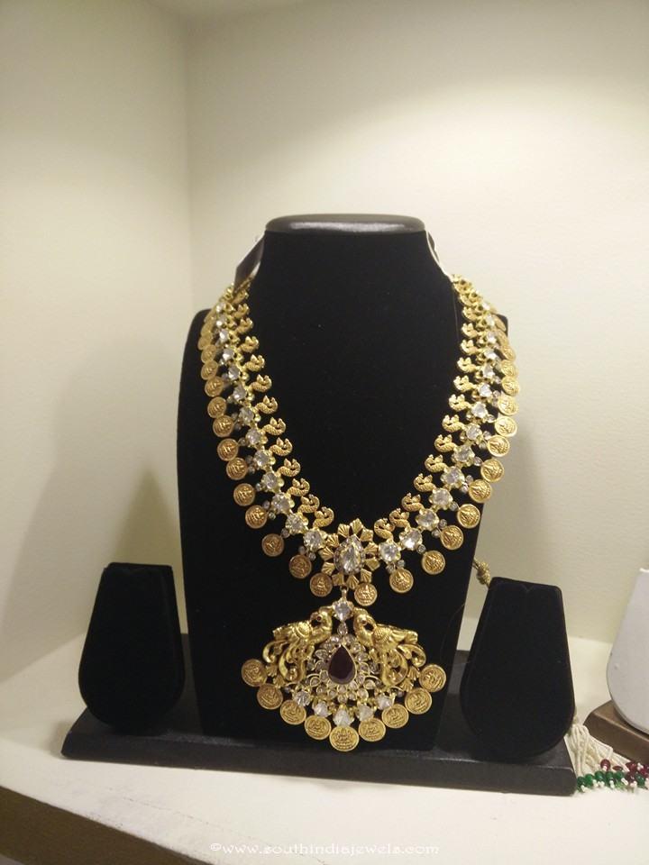 22k gold long kasumalai necklace from Vajra Jewellery