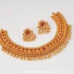 95 Grams Gold Antique Choker Necklace