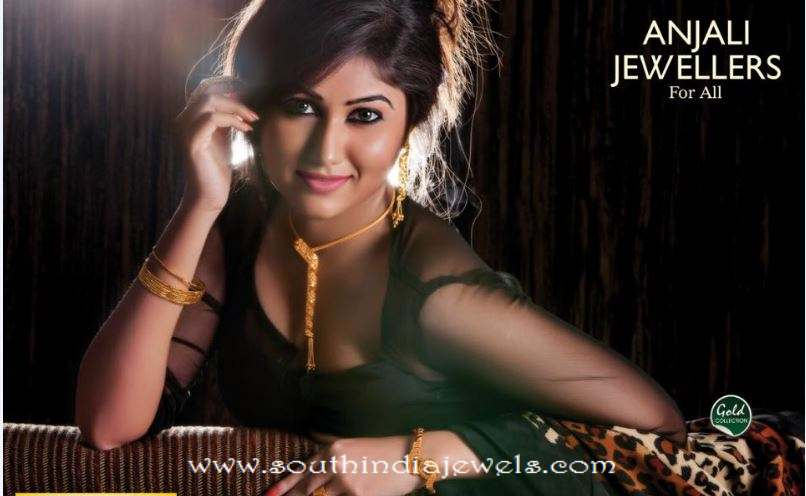 Anjali jewellers gold necklace designs