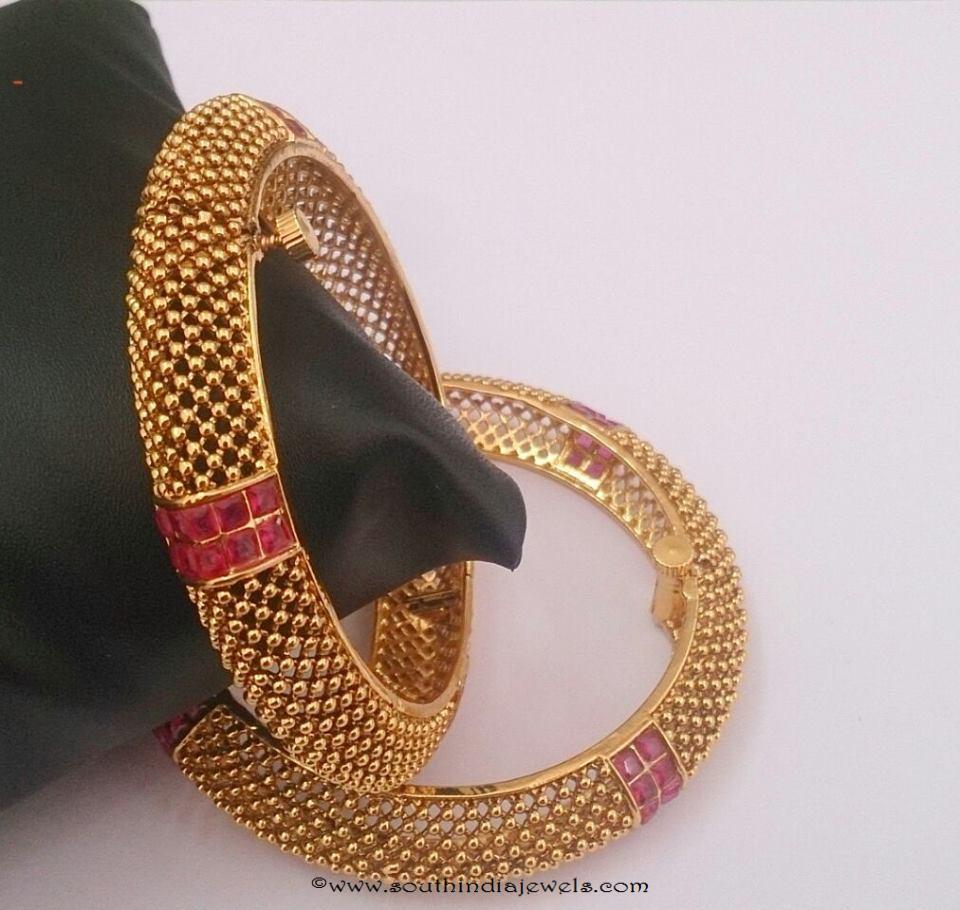 Designer 1 gram gold bangle