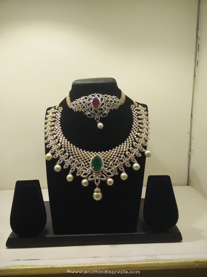 Designer diamond necklace designs from Vajra jewellery