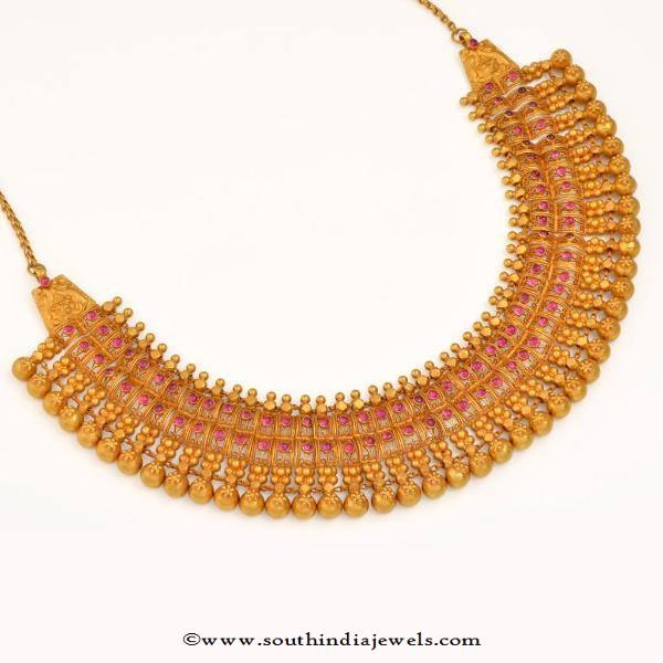 Gold Grand Ruby Choker Design