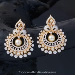 Gold Stone Pearl Earrings