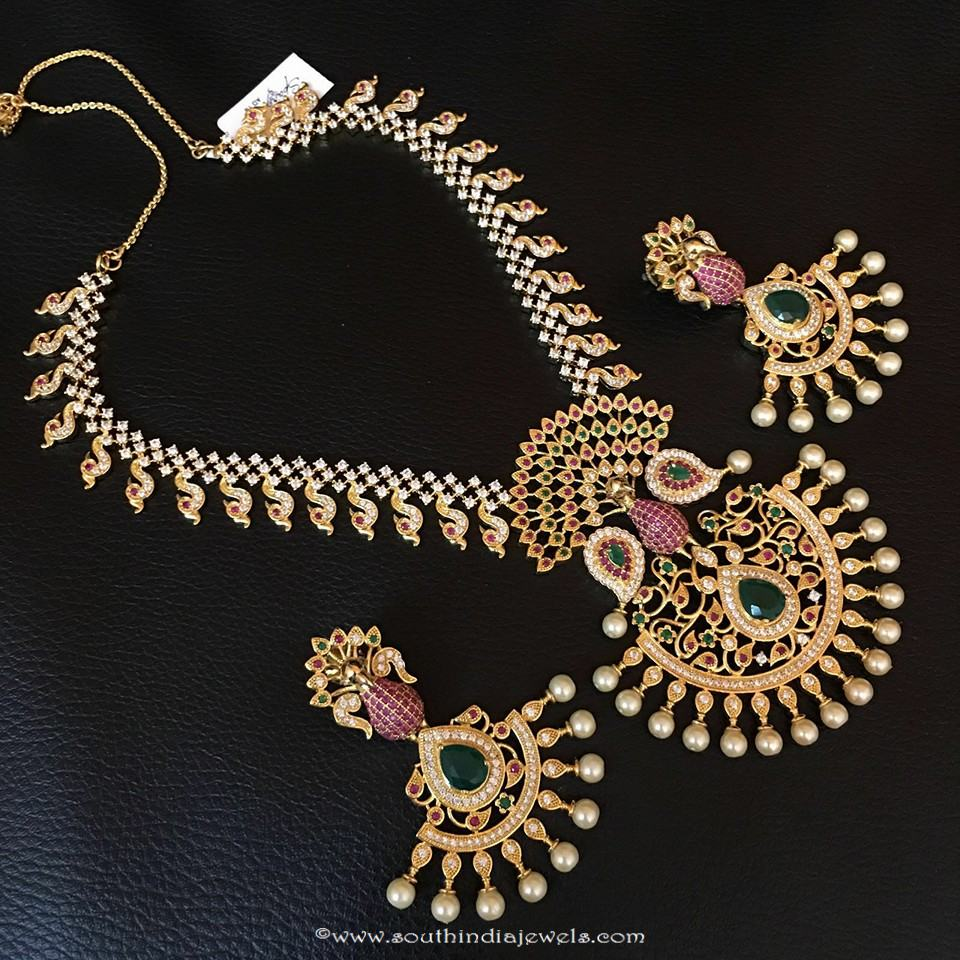 One Gram Gold Stone Necklace From RS Designs