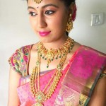 South Indian Bride in Gold Jewelleries
