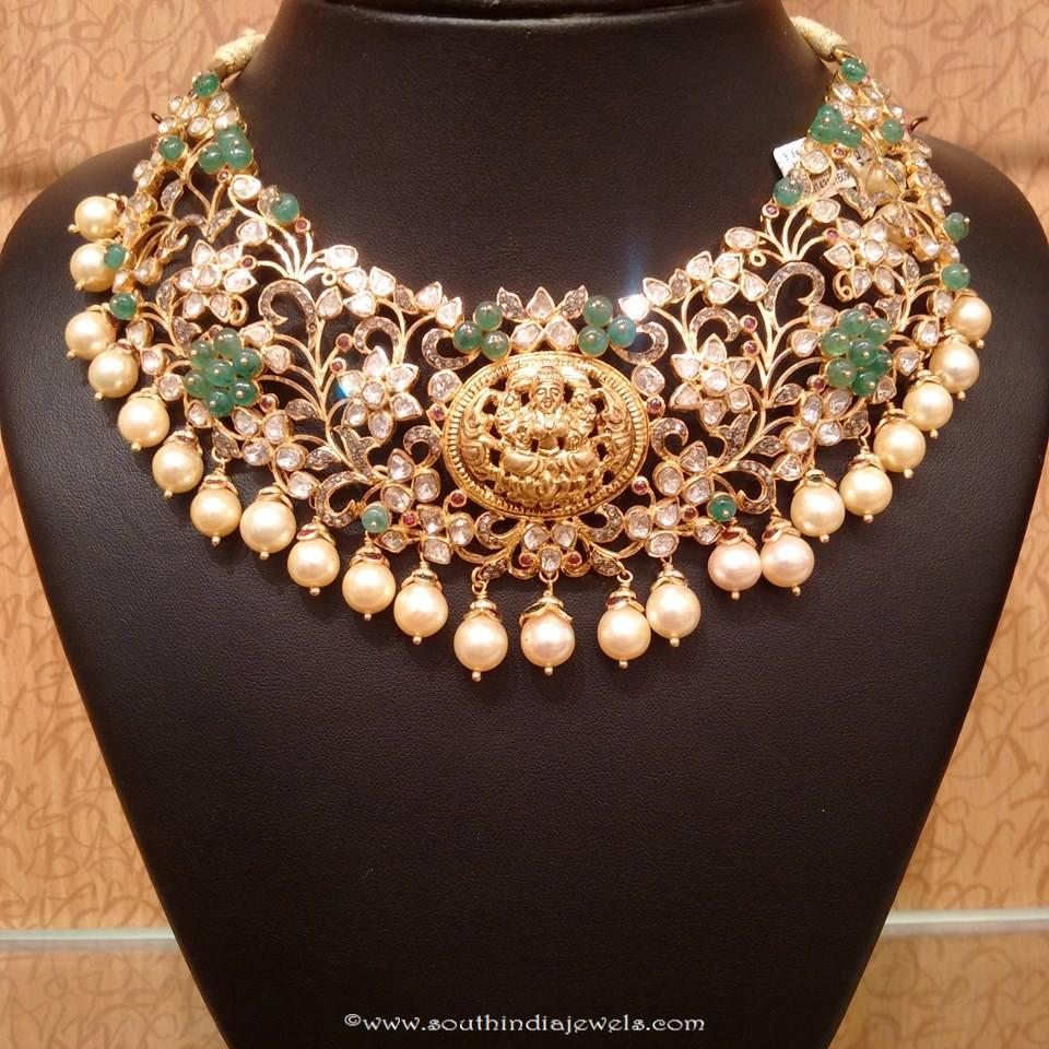 Uncut diamond choker necklace design from NAJ