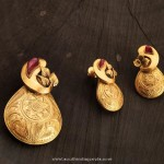 Gold Pendant Set From Karpagam Jewellers