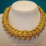 Gold Floral Necklace Design