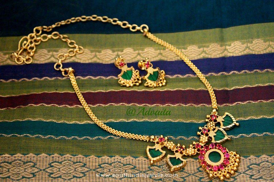Gold Plated Kerala Style Necklace