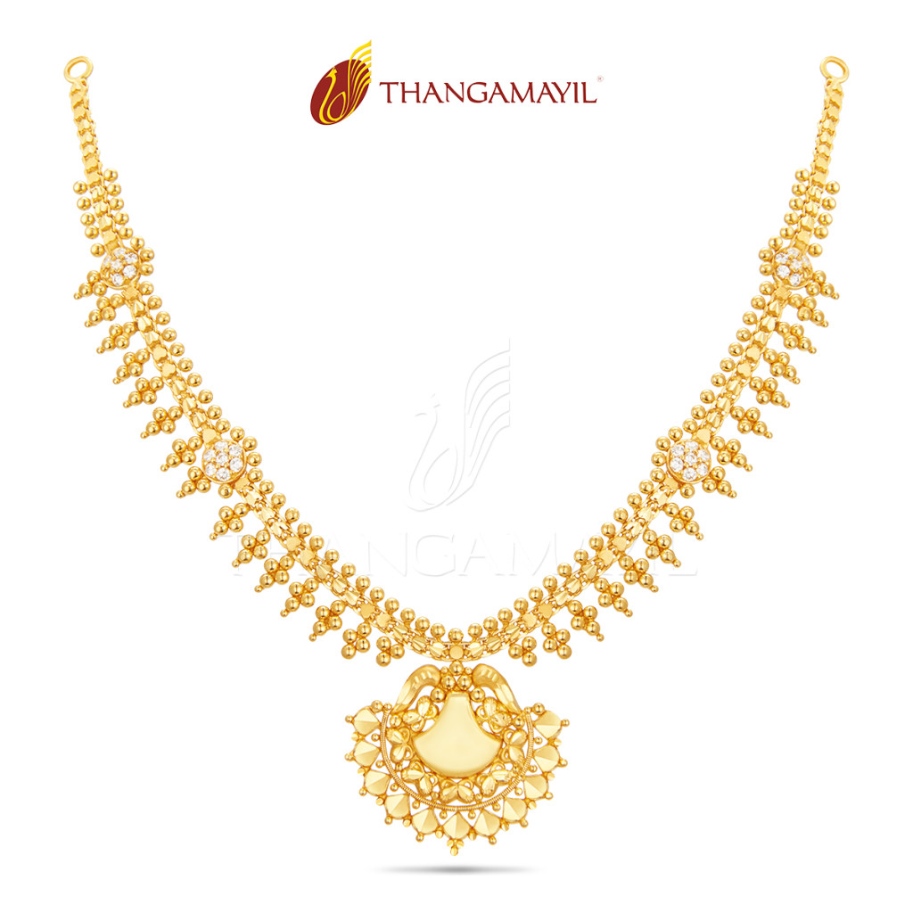 22K Gold Necklace From Thangamayil Jewellery