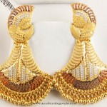 22k gold earrings from Senthil Murugan Jewellers