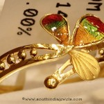 22K Gold Enamel Ring From Sumathi Jewellers