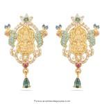 22 Carat Gold Lakshmi Earrings