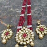Beaded Kundan Necklace Set From Chaahat Fashion Jewellery