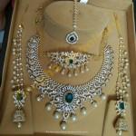 Diamond Bridal Jewellery Set From Anagha Jewellery