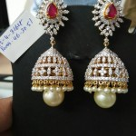 Diamond Jhumka from Ishwarya Diamonds