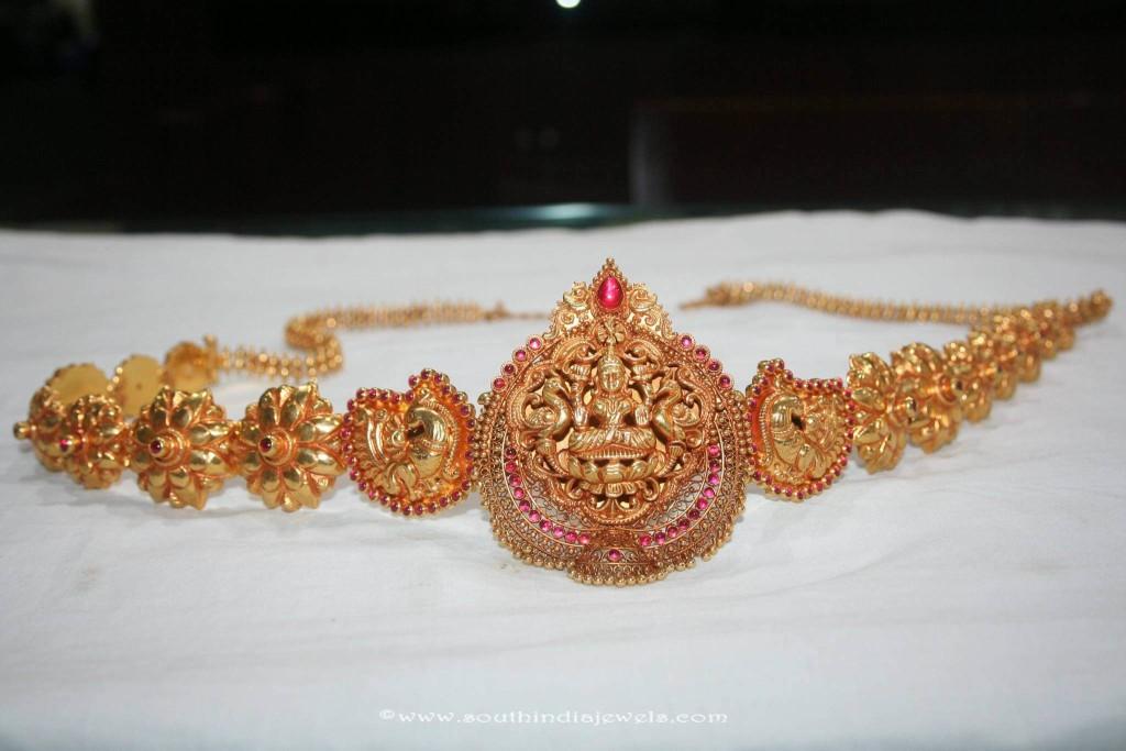 22K Gold Antique Hip Chain