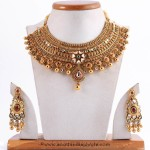 Gold Choker Set from Manepally Jewellers
