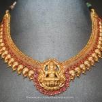 Gold Antique Lakshmi Choker From Prakurthi