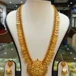 Gold Antique Long Necklace Set From Navkar Gold World