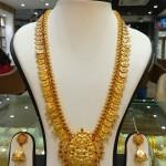 Gold Antique Long Necklace Set From Navkar Gold World