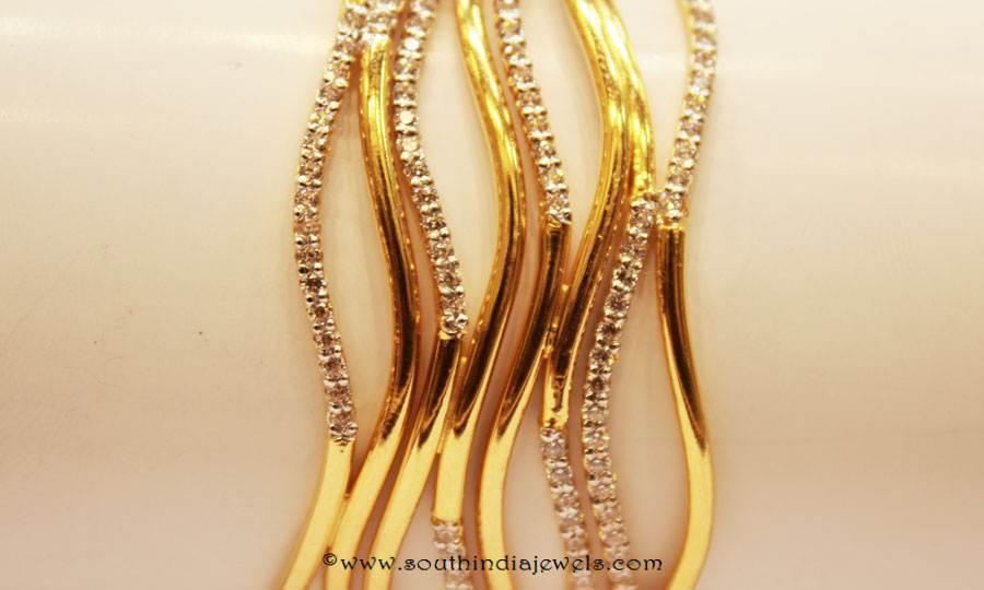 Gold Designer Bangle From Sumathi Jewellers