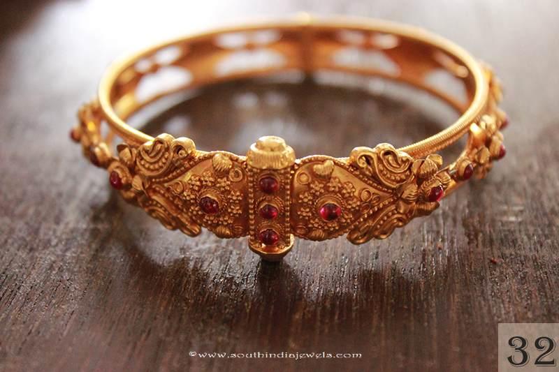 Gold Kada Bangle from Sayar Jewellery
