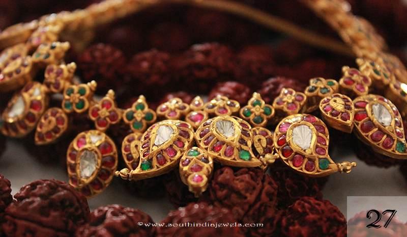 Gold kemp mango necklace from Sayar Jewellery