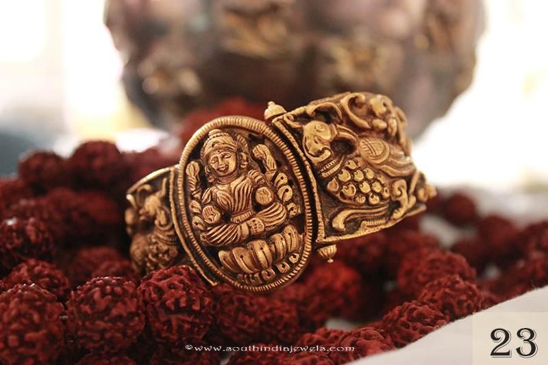 Gold Lakshmi Kada Bangle From Sayar Jewellery
