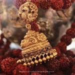 Gold Antique Peacock Jhumka
