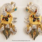 Gold Peacock Earrings from Senthil Murugan Jewellers