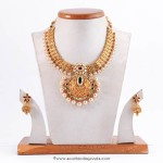 Gold Pearl Necklace from Manepally Jewellers