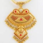 Gold Pendant Design from Senthil Murugan Jewellery