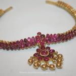 Gold Ruby Attigai Necklace from Prakruthi