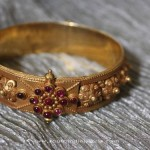 Gold Ruby Bangle From Sayar Jewellery