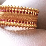 Gold Ruby Broad Bangle from Sayar Jewellery