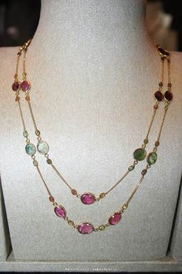 Gold Double Layer Stone Chain From Prakruthi