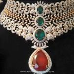 Grand Diamond Wedding Choker from Ishwarya Diamonds