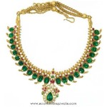 Mango mala with emeralds & Rose Cut Diamonds