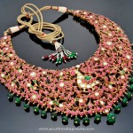Gold Ruby Kundan Choker From Tibarumals Jewellers