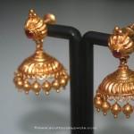 Simple Gold Jhumki From Prakruthi