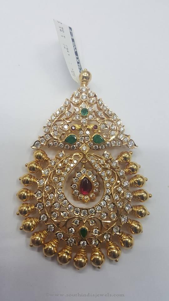 22K gold diamond pendant from Sri Balaji Jewelers