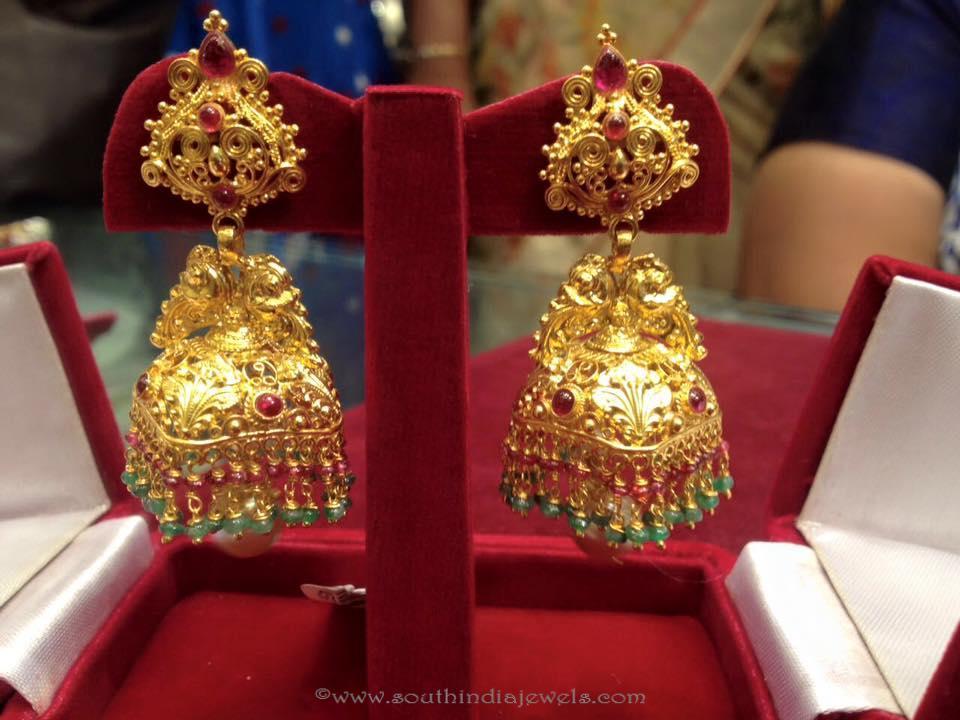 25 Grams Gold Antique Jhumki